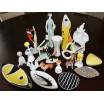 Wazonik a'la Picasso sygnowany Selb Bavaria design lata 60-te