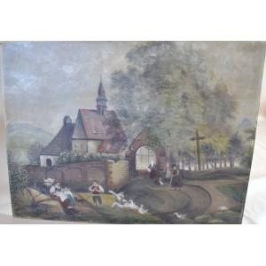Olej na płycie  80 x 60 cm. podpisany J.Müller 1943r.