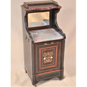 Wiktoriańska szafka węglarka palisander - Anglia 1890r po renowacji