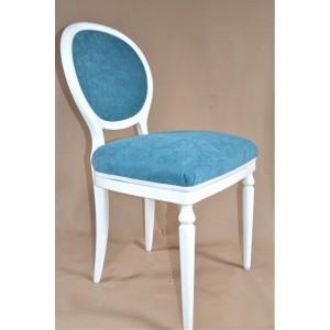 Krzesło sygnowane Casala tapicerka turkusowa po renowacji