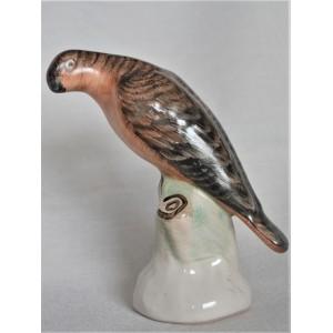 Ptak ceramiczny rudy Budapeszt lata 60te wys.12cm