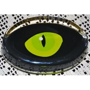 przycisk do papieru oko szkło Murano design XXw.